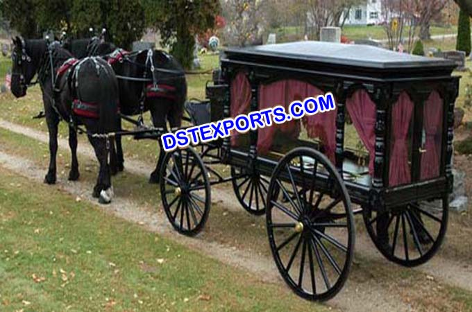 New Grand Funeral Horse Drawn Carriage
