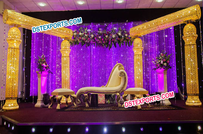Royal Crown Wedding Stage Set