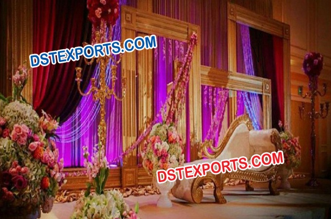 Wedding Gold Backdrop Panels Stage