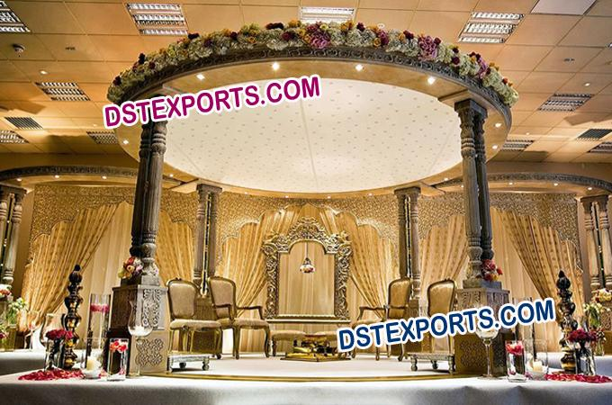 Indian Wedding Wooden Mandap/Pagoda Set
