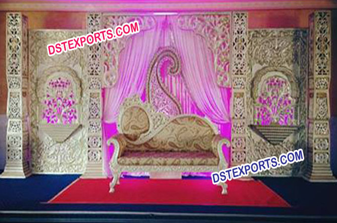 Hindu Wedding Decorated Stage Set