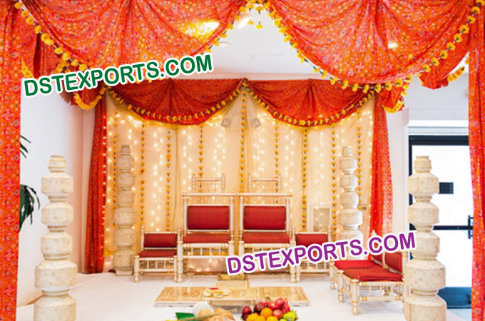 Indian Wedding Mandap Choris Set