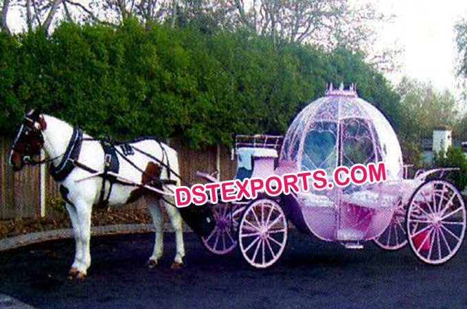Australian Wedding Pink Cinderella Horse Carriage
