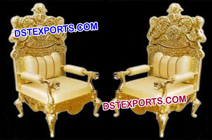 Wedding Golden Rich Chair Set
