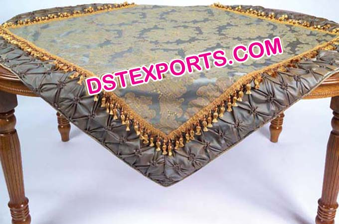 Embroidered Table Overlay Decors