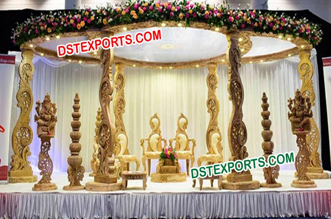New Design Wedding Peacock Mandap Set