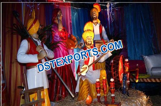 Punjabi Wedding Decotion Bhangra Statue