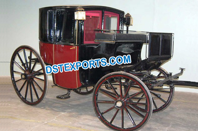 Royal Antique Glass Covered Horse Buggy