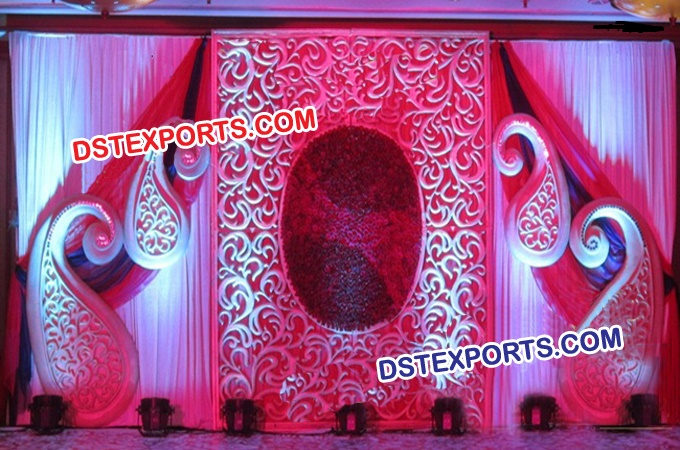 Beautiful Wedding Stage Backdrop Decoration