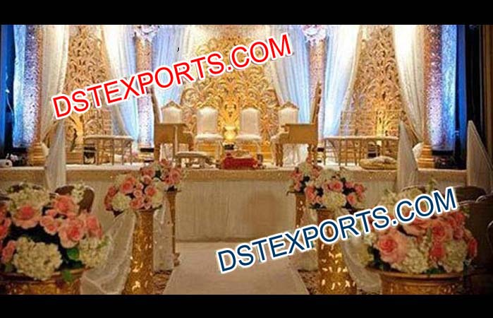 Wedding Fiber Carved Backdrop Panels Curtains