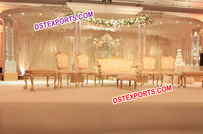 Nikah Wedding Wooden Pillars Stage Set