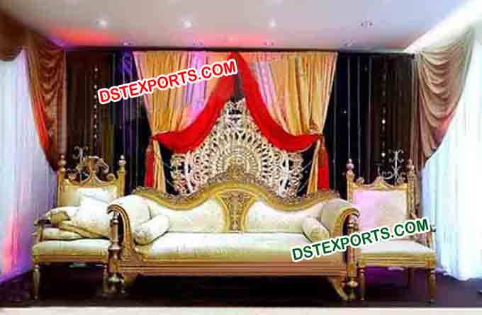 Muslim Wedding Carved Sofa Set For Wedding
