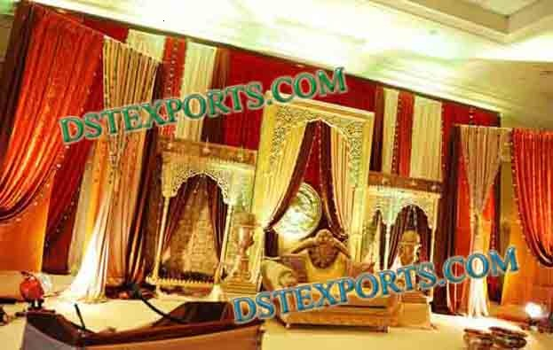 Indian Wedding Golden Backdrop Frame