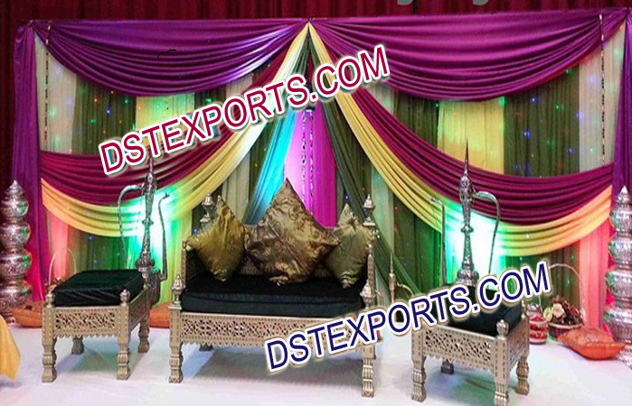Asian Wedding Mehandi Stage Decor