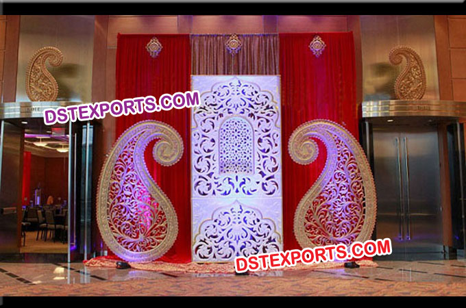 Latest Wedding Stage Backdrop Panels/ Fiber Frames