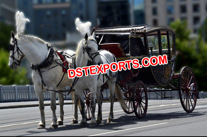 King Double Horse Drawn Carriage