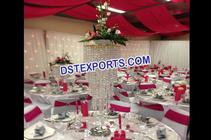 Table Crystal Jhumer Stand For Wedding