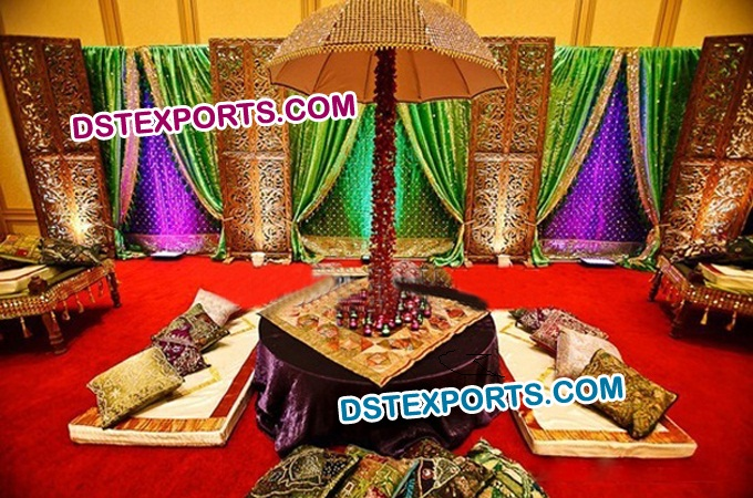 Latest Royal Wedding Mehndi Stage