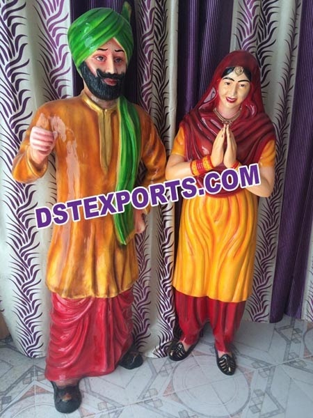 WEDDING WELCOME PUNJABI COUPLE STATUES