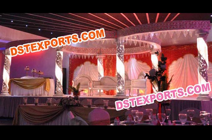 Traditional Wedding Crystal Mandap Set