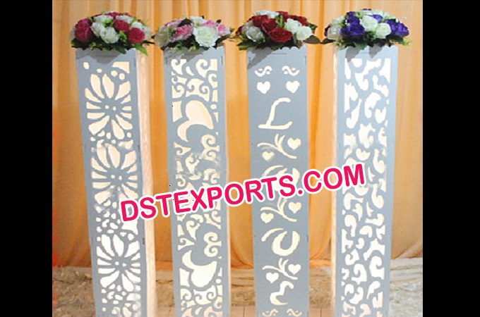 Latest Wedding Fiber Lighted Pillars