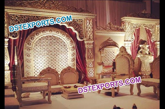 Beautiful Wedding Jodha Akbar Theme Stage