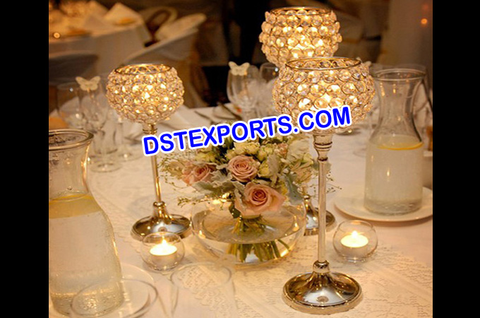Wedding Gold Crystal Table Stands