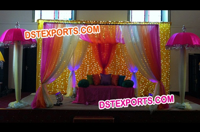 Asian Wedding Mehndi Sangeet Stage