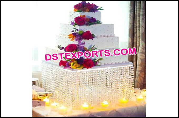 Wedding Square Crystal Cake Stand
