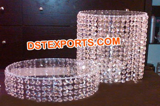 Wedding Round Crystal Cake Stands