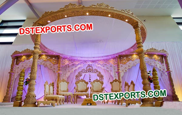 ROYAL INDIAN WEDDING WOOD MANDAP