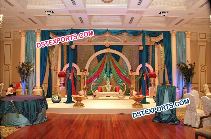 Asian Wedding Stage Decorated Set