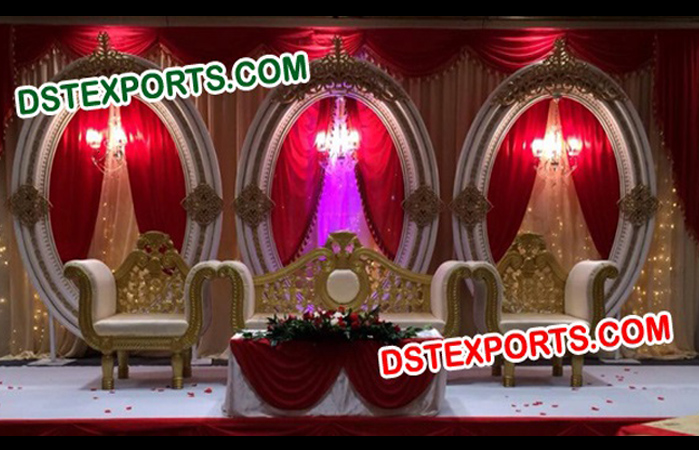 Wedding Oval Panels Stage