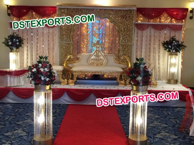 New Asian Wedding Maharaja Stage Set