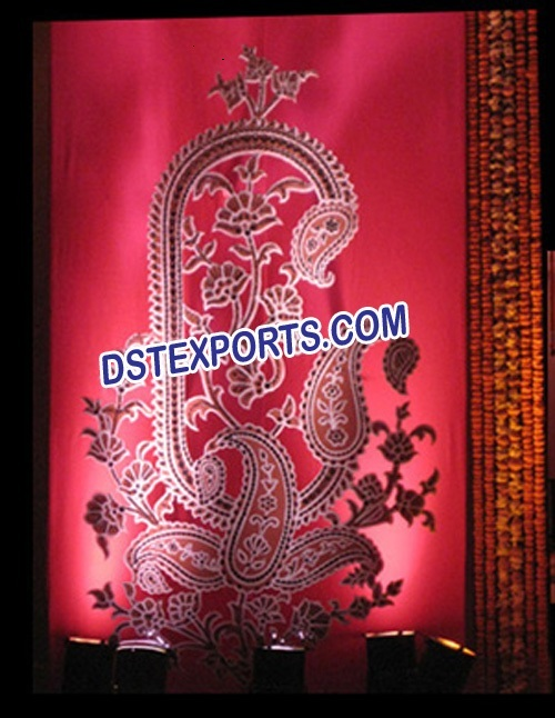 INDIAN WEDDING EMBRODRIED BACKDROP CURTAIN