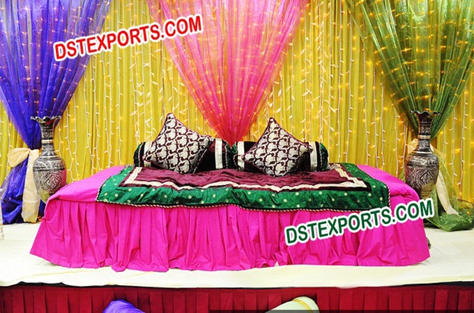Backdrop Curtains For Wedding Mehndi Stage