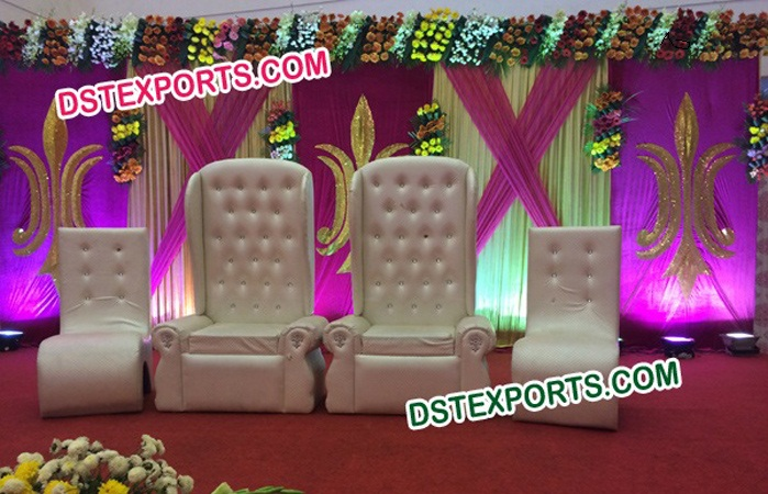 Wedding Stage Decor White Tufted Furniture
