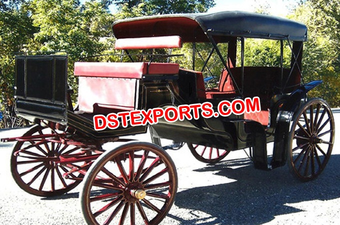 Beauty Black Victoria Horse Drawn Carriage