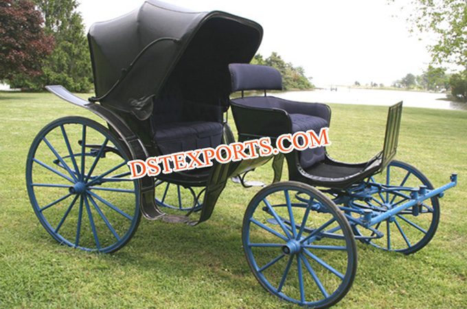 New Black Victoria Two Seater Carriage