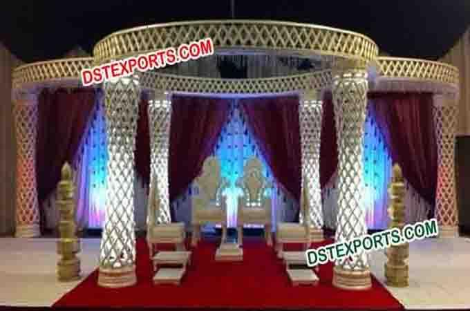 Wedding Crystal Mandap With Led Lights For Sale