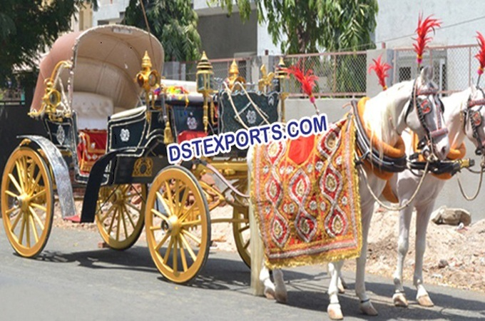 Indian Wedding Black Gold Buggy