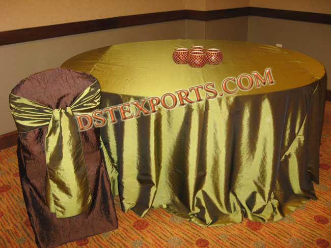 Wedding  Matching  Chair Cover With Table Clothes