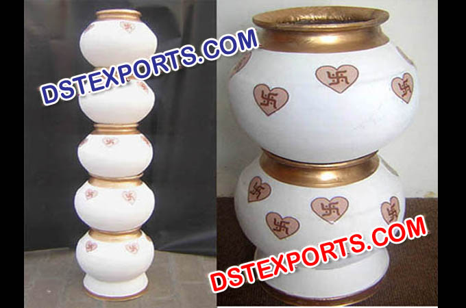 Indian Wedding White Decorative Pots