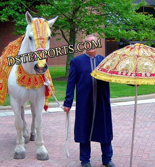 Decorated Wedding Horse Costumes