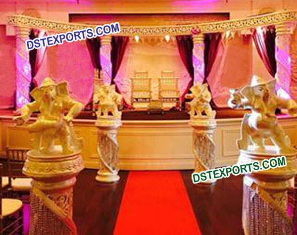 Asian Wedding Crystal Stage Decorations