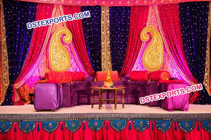 Stylish Wedding Carry Mehndi Stage