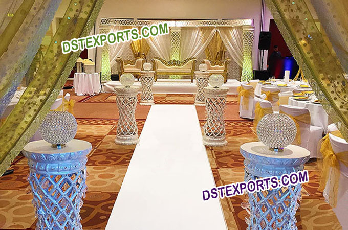 Wedding Palazzo Crystal Stage Decoration