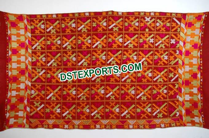 Indian Wedding Phulkari Bagh Dupatta