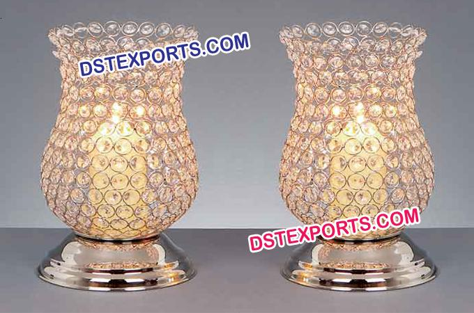 Stylish Crystal Lantern For Table Decoration