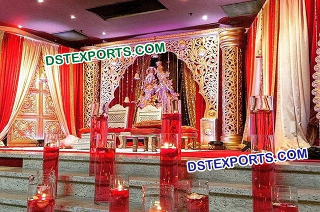 Mughal Decor For Wedding Reception Stages